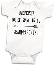 Bump and Beyond Designs Surprise Pregnancy Announcement Grandparents, Newborn Bodysuit, White