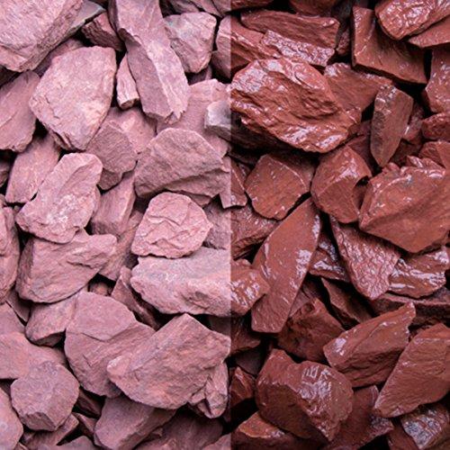 Canadian Slate rot, 15-30er Korn, Edelsplitte von GSH - 20 kg/Sack