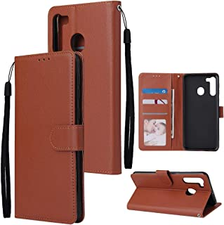 AKDSteel Anti-drop protective shell For S-a-ms-u-ng A21/A41/Note 10 Lite PU Leather Mobile Phone Cover with 3 Cards Slots ...