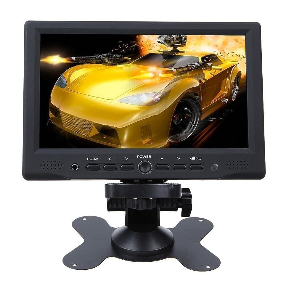 移民ごみ本質的にORIGIN車乗モニター  サブモニター 7インチ HDMI入力 VGAポート PC/DVDなどに接続可能 IRリモコン付き