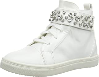 Lost Ink Women's WF Hazel Jewel Strap HIGH TOP Hi Trainers (White 0006), 5 UK 38 EU