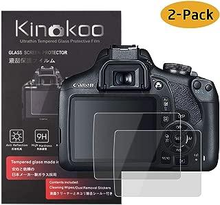 Paquete de 2 kinokoo Pel/ícula de Vidrio Templado para Panasonic LX10//LX15//GX85//GX80//G7//GX7II//FZ300 Crystal Clear Film Protector de Pantalla Panasonic sin Burbujas//antiara/ñazos