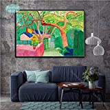 baodanla David Hockney A Bigger Splashist Custom Hot New Art Poster Top Canvas Painting Home Decor Impresiones de la Pared Carteles e50x75cm(Sin Marco)
