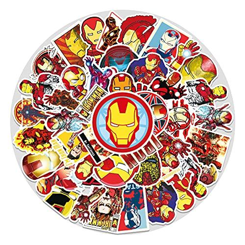 ZNMSB 52 Hero Iron Man Graffiti Stickers Bagagli Adesivi Impermeabili per Auto per Scooter per Laptop