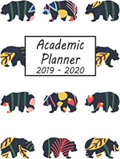 Academic Planner 2019 - 2020: Bear Weekly and Monthly Planner, Academic Year July 2019 - June 2020: 12 Month Agenda - Calendar, Organizer, Notes, Goals & To Do Lists