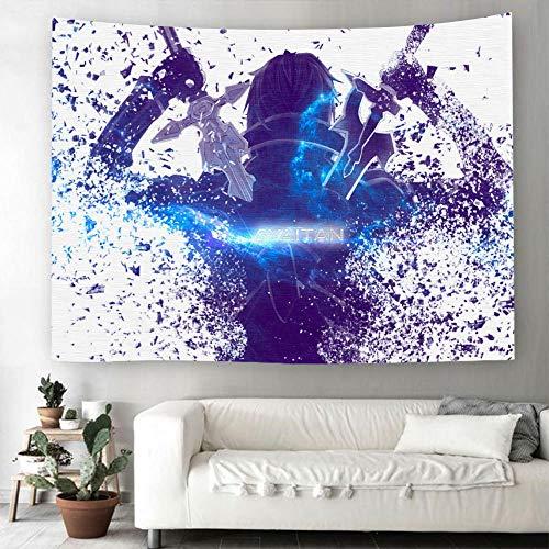 MSHAQT Tapices Dibujos Animados Sword Art Onlin Tapiz Película Arte para Colgar En La Pared Tela De Poliéster Colcha Dormitorio Regalo De Decoración 150 Cm * 250 Cm
