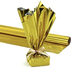 Hygloss Products Mylar Gift Wrap Roll - Great for Gift Bags, Baskets – 24 Inch x 8.3 Feet, Gold