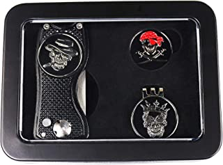 GOLTERS Golf Divot Tool Ball Markers Hat Clip Gift Sets in Tin Box