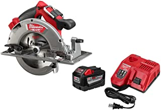 Milwaukee M18 FUEL 18-Volt Lithium Ion Brushless Cordless 7 1/4 in. Circular Saw with M18 18-Volt 9.0Ah Starter Kit | Modern Hardware Power Tools for Your Carpentry Workshop or Machine Shop