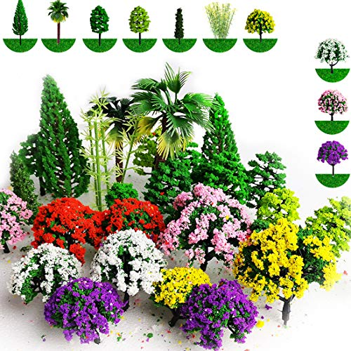 hatisan 37pcs Mixed Model Trees ...