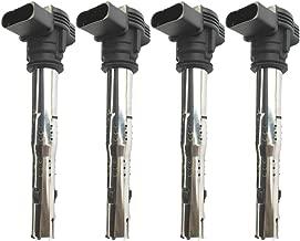 07K905115 Ignition Coils Pack For VW Golf V VI Passat Polo Beetle Scirocco Vento IV Audi A1 A3 A4 A5 A6 TT Q3 Q5 Skoda Superb Lamborghini Gallardo 1.8T 2.0T 5.2L 2005- (Black)
