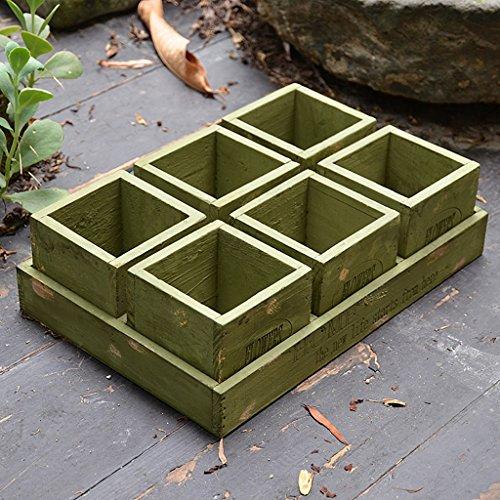 Boîtes en bois vintage rectangulaire en pot Combinaison en bois boîte