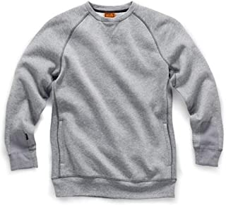 Scruffs line for 2018**. Crew Neck Sweatshirt Jumper in Marl Grey with Zipped Pockets Beat The Winter chill!!