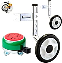 Ciao! Sports & Outdoors Bicycle Training Wheels for Kids with Free Bell, Adjustable for 12 14 16 18 20 inch Bike. A Perfect stabilizer Accessories Package for Kid