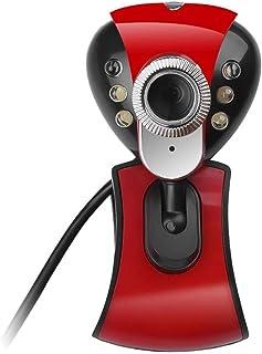 غطاء كاميرا الويب 1080P HD Webcam Webcam Built-in Microphone 360-degree View Webcam Full HD USB 2.0 50.0M 480P 6 LED For C...