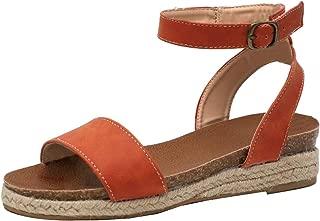 Mogogo Womens Leopard Fashion Roman Shoes Open Toe Wedges Espadrilles Sandals
