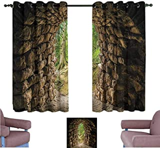 Mannwarehouse Forest Thermal Curtains Archaic Tunnel in Woodland Noise Reducing 72