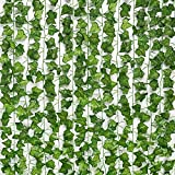 JPSOR 24pcs 158 Feet Fake Ivy Leaves Fake Vines Artificial Ivy, Silk Ivy Garland Greenery Artificial Hanging Plants for Wedding Wall Decor, Party Room Decor