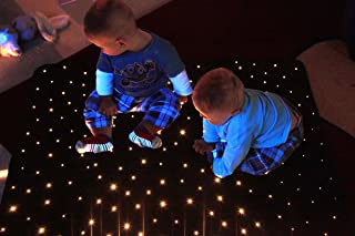 STC1010-MIC1000 Fiber Optic Star Carpet 3.28` X 3.28` with LED Colorchange Illuminator