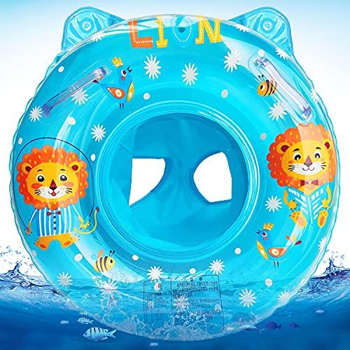 Baby Schwimmring, Baby Schwimmhilfe Spielzeug, Aufblasbarer Schwimmreifen, Baby wimming Ring mit Schwimmsitz, Kinder Schwimmreifen Spielzeug, Float Kinder Schwimmring (Blau)