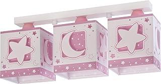 Dalber Moon Light Lámpara Plafón Techo Infantil 3 Luces MoonLight Rosa, 60 W