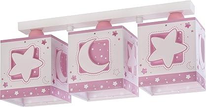 Dalber Moon Light Plafondlamp voor kinderen, 3 lampen, MoonLight roze, 60 W