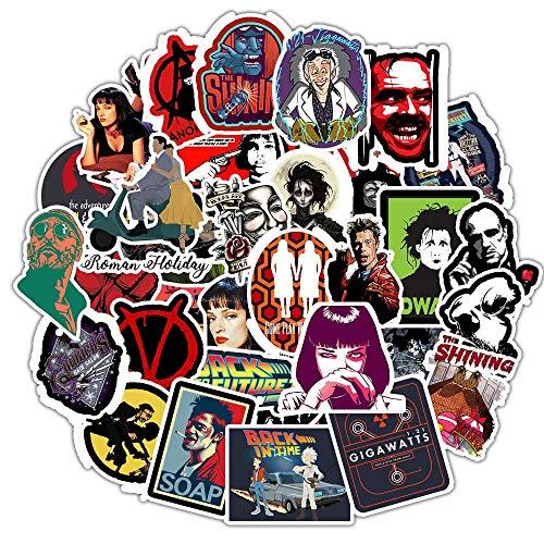 PMSMT 50 unids Pegatinas de películas clásicas para Equipaje portátil Arte Pintura Kill Bill Pulp Fiction Poster Stickers Skateboard dwaterproof Water bicycl