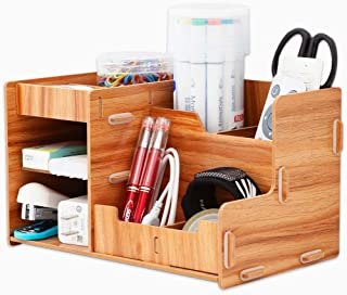 Ayane Home Office Desk Organizer with Drawer,Supplies Caddy with Pen Holder and Storage Baskets for Desk Accessories, File...