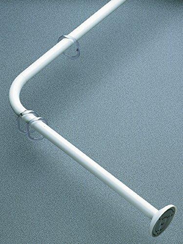 spirille 10.10326Kreta Universal cm Duschvorhang Winkelstange, Universal Weiß Aluminium lackiert 82x 3x 3cm