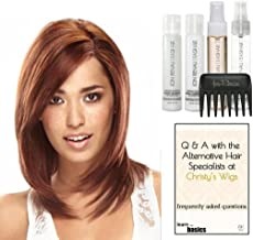 Jon Renau JENNIFER Human Hair Wig, 15 Page Christy's Wigs Q & A Booklet, Luxury Shampoo & Conditioner, Heat Treat Thermal Spray, Smooth Treatment Mist, Wide Tooth Comb - Color Selected: FS27