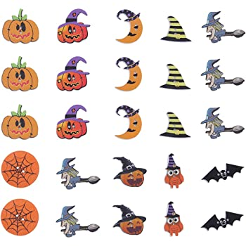 Wizards Hat /& Pumpkin Buttons  x  5   Crafts//Sewing//Cardmaking//Scrapbooking