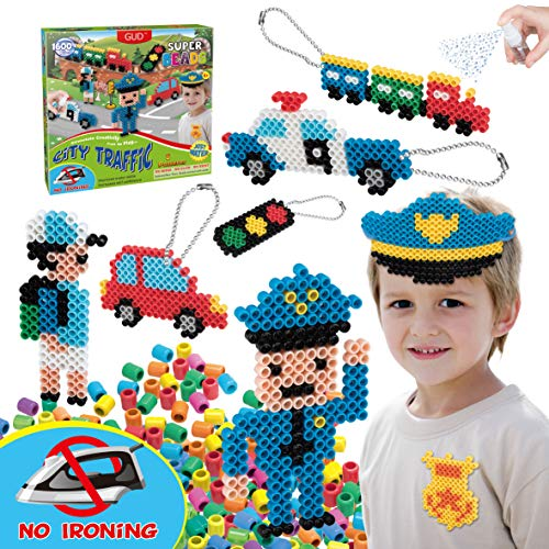 Kids DIY Water Fuse Non Iron Super Beads for Boys Arts and Crafts Toy Set. Boys...