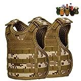 DSMY 2 pcs Bottle Vest Tactical Beverage Cooler Military Beer Mini Molle Vest Hunting Bottle Drink Adjustable Shoulder Straps