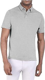 Santhome Cotton Polo Shirt for Men - Ash Melange
