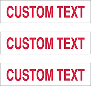 Personalized Real Estate Rider Sign Kit – Pack of 3 Signs 6 x 24 Inches – Double-Sided Yard Signs – Red & White Customizable Lawn Signs - Customize Each Sign: Coming Soon, New Listing, for Sale