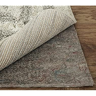 Mohawk Home Dual Surface Felt Non Slip Rug Pad, 2'x4', 1/4 Inch Thick, Safe for All Floors