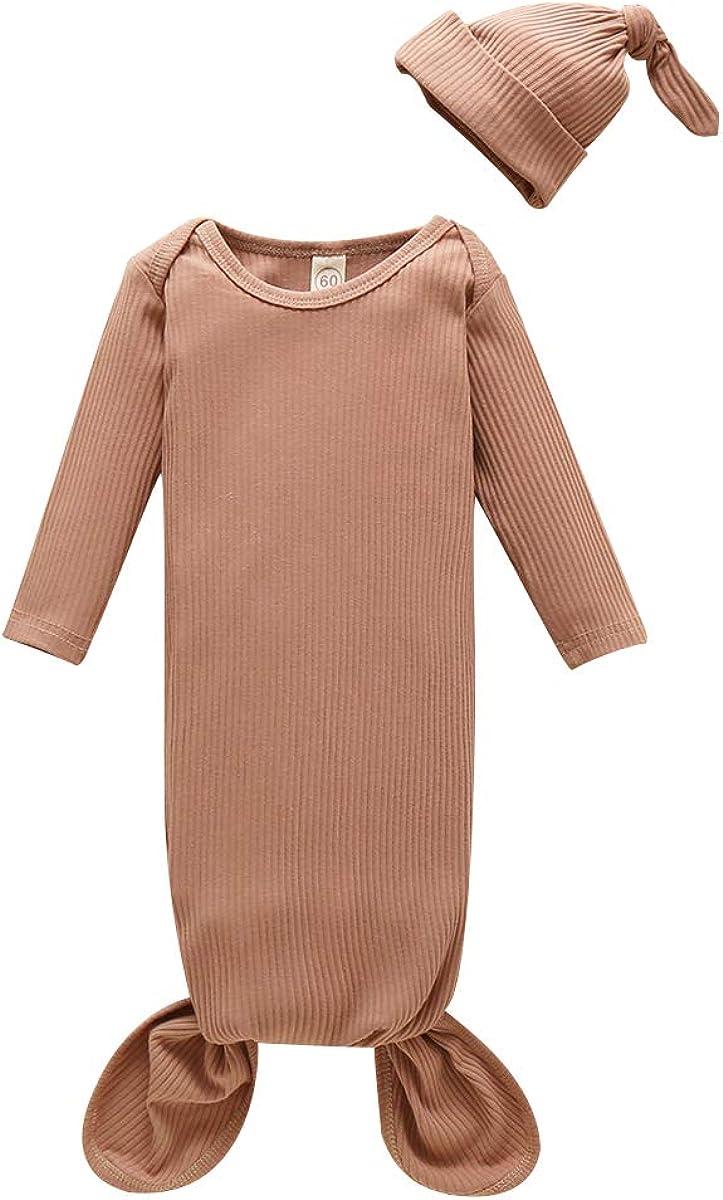 Newborn Baby Boy Girl Cotton Sleepwear Nightgown Headband Set Ranking TOP6 Many popular brands