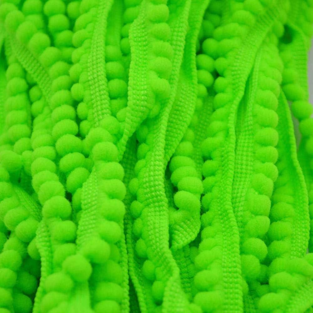 orange 5 yards dentelle garniture ruban pompon dentelle tissu boule tresse dentelle frange rubans bricolage mat/ériel artisanat v/êtements couture accessoires