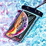 LEAWALL Protective Mobile Cover-All Cellphone Transparent Waterproof Pouch-for iPhone Xs Max XR XS X 8 7 6S 6 Plus, Samsung Galaxy S9 S8 + Note 8 6 5 4, Pixel 3 2 XL, Mi, Moto up to 6.5 inch(1PCS)