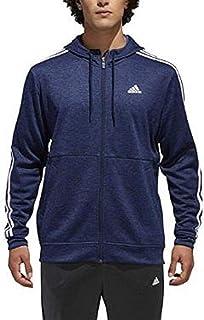 adidas Men's Tech Full Zip Fleece Hoodie Performance Hooded Track Jacket