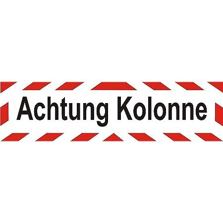 Indigos Ug Magnetschild Achtung Kolonne 45 X 12 Cm Magnetfolie Für Auto Lkw Truck Baustelle Firma Auto