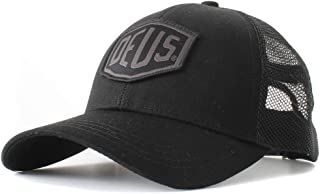DEUS EX MACHINA (デウスエクスマキナ) メッシュキャップ 帽子/WOVEN SHIELD TRUCKER - BLACK / DMS87682