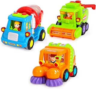 Toyvian 3 Pcs Vehicle Toys Creative Durable Colorful Construction Vehicle Toys Educational Toys Car Toys Truck Toys for Toddlers