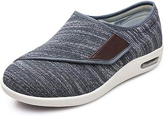 B/H Sandalias Diabéticas,Zapatos de Hombre con Empeine Alto, pies hinchados-39_B Gris,Zapatillas de Artritis