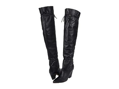 Tory Burch Lila 90 mm OTK Scrunch Boot (Perfect Black) Women