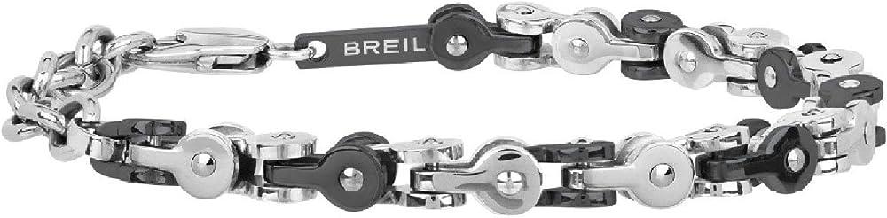 Breil bracciale uomo collezione gear maglie in acciaio e con trattamento ip TJ2256
