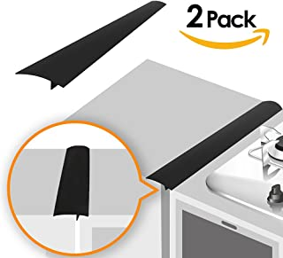 Linda's Silicone Kitchen Stove Counter Gap Cover Long & Wide Gap Filler (2 Pack)..