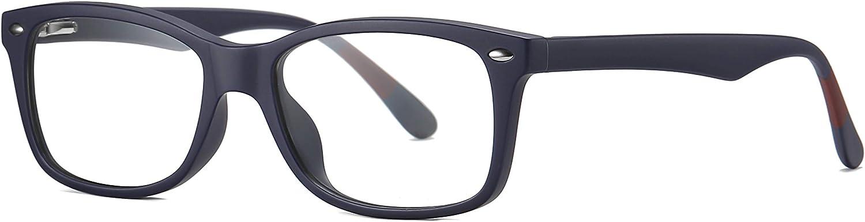 SKILEC Gafas Anti Luz Azul Gafas Ordenador Gafas Lectura Hombre Mujer Antifatiga Filtro Protección Azul UV Gafas Presbicia Hombre para PC, Gaming, Tablet, Videojuegos Lentes Transparentes (Azul)