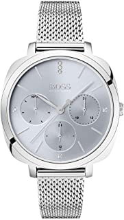 Hugo Boss Womens Quartz Watch, Chronograph Display and Stainless Steel Strap 1502491