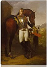 Antoine Jean Gros Stretched Giclee Print On Canvas-Famous Paintings Fine Art Poster Reproduction Wall Decor-Ready To Hang(Baron Antoine Jean Gros Portrait Of Second Lieutenant Charles Legrand)#NK